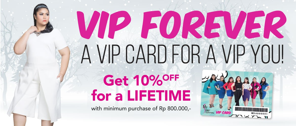 My Size VIP Member Card