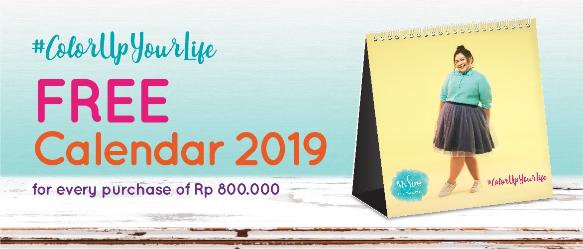 My Size Calender 2019